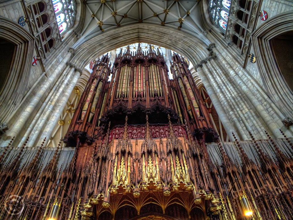 York Minster organ gallery.