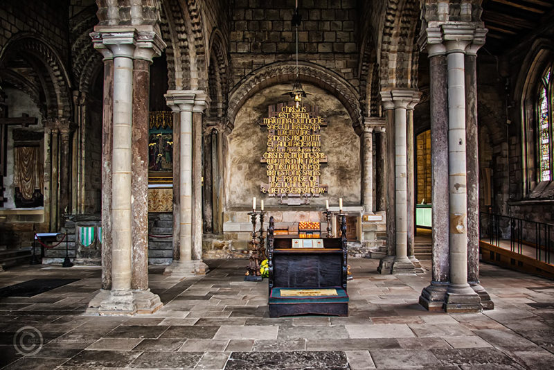 Tomb of the Venerable Bede, Durham Cathedral.