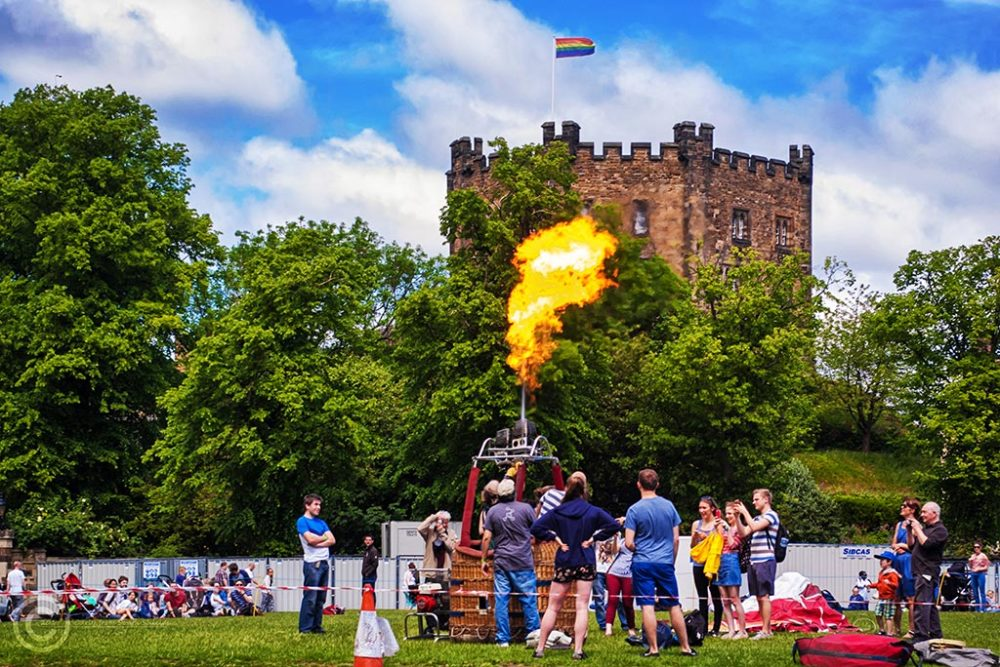 Hot air balloons in Durham