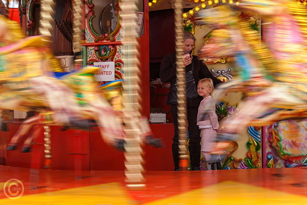 Fairground ride in Amble, Northumberland.