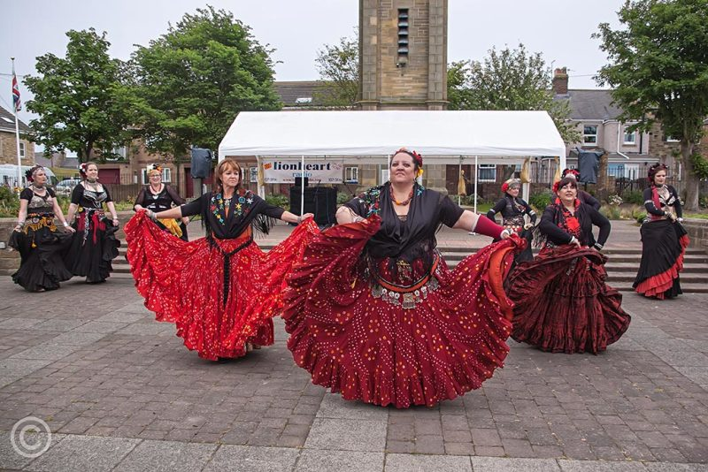 Dancers in Amble, Northumberland