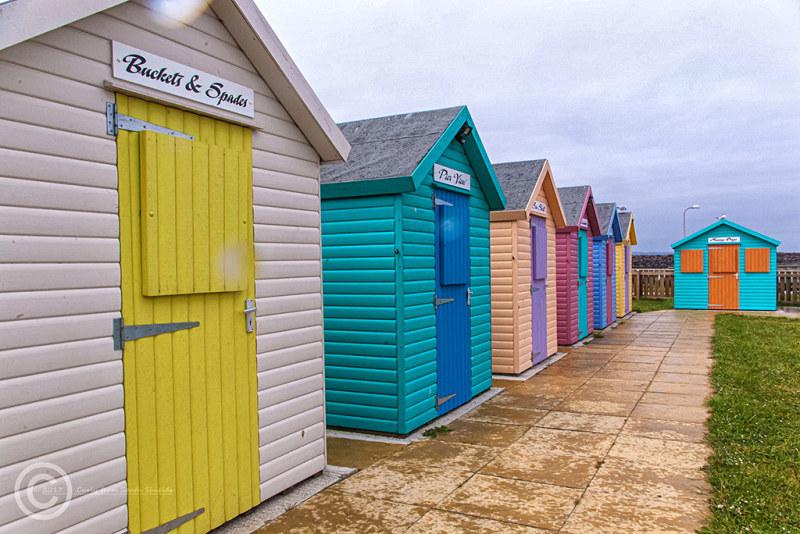 Beach huts, Amble, Northumberland