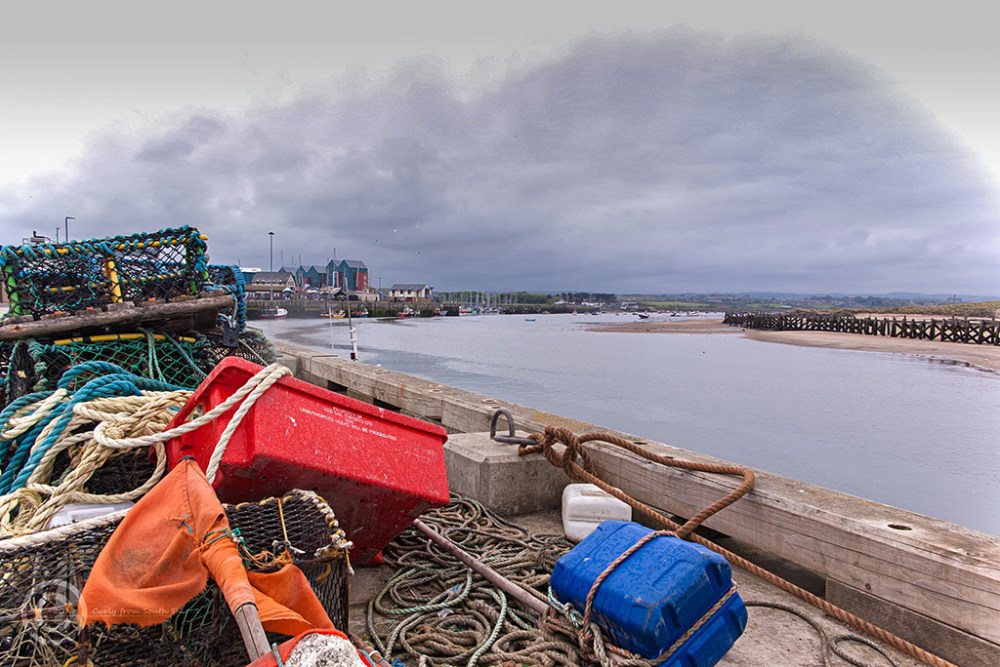 Lobster pots in Amble, Northumberland