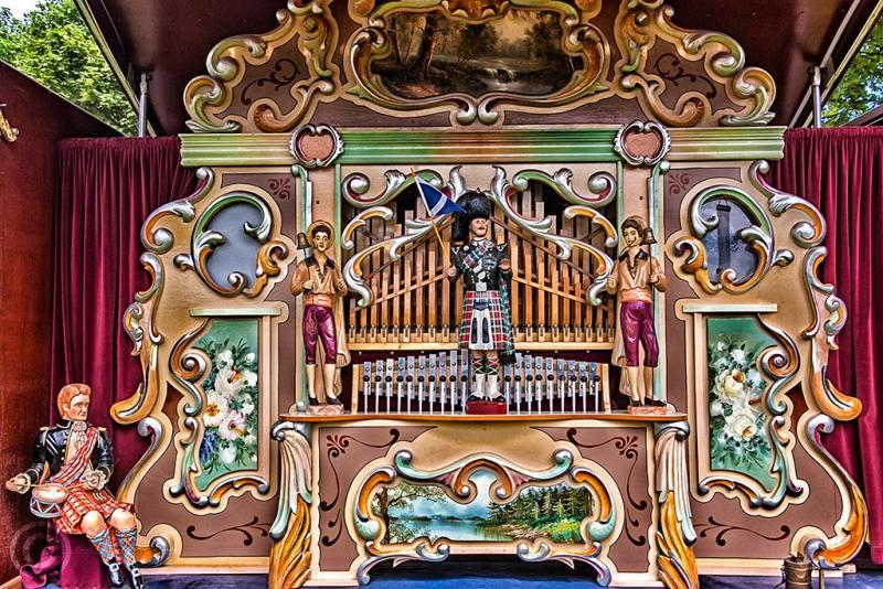 Steam fairground organ, Corbridge
