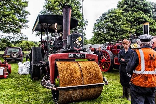 Steam traction roller, Corbridge