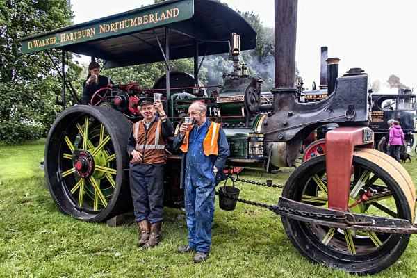 Steam traction rally Corbridge Northumberland 2017