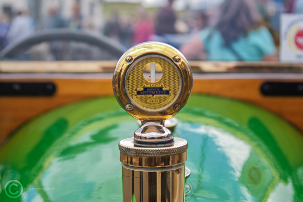 Detail from an old Morgan car bonnet