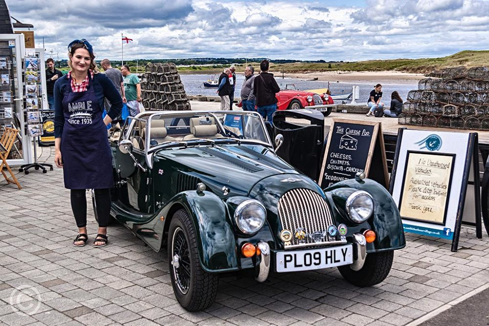 Morgan motor car in Amble, Northumberland.