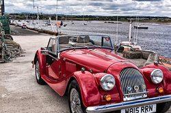 Morgan motor car in Amble, Northumberland.