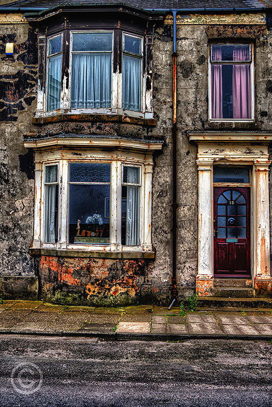 Terraced housing in Hartlepool, County Durham HDR