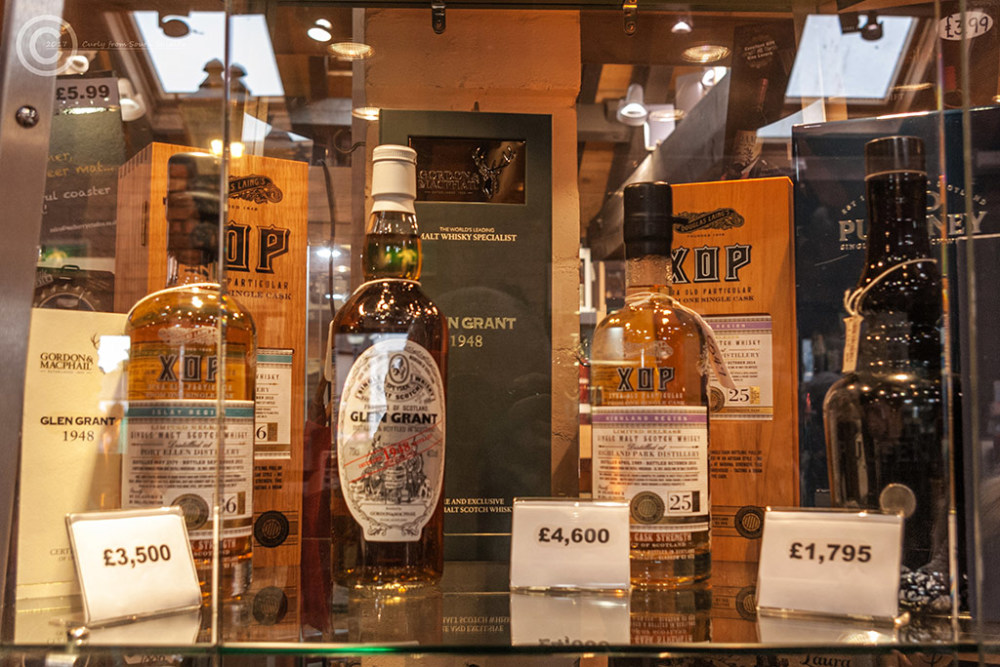 Whisky for sale at Gretna Green