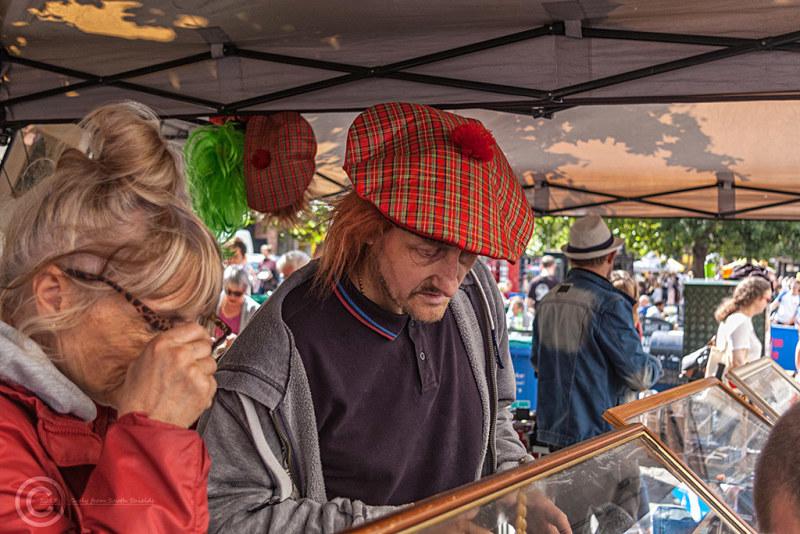 Market trader in Edinburgh