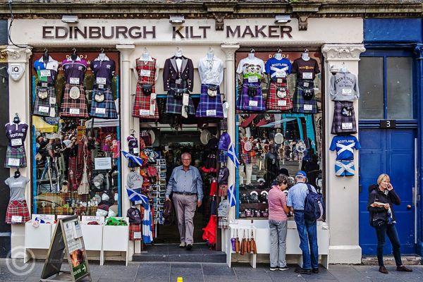 Kilt shop, Edinburgh, Grassmarket