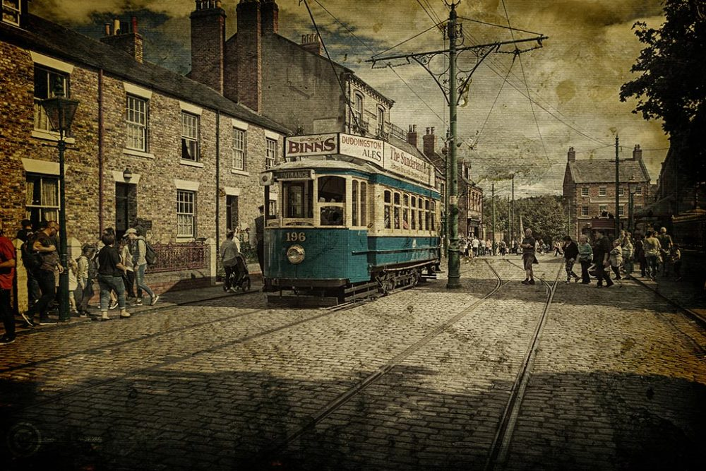 196 tram at Beamish Museum