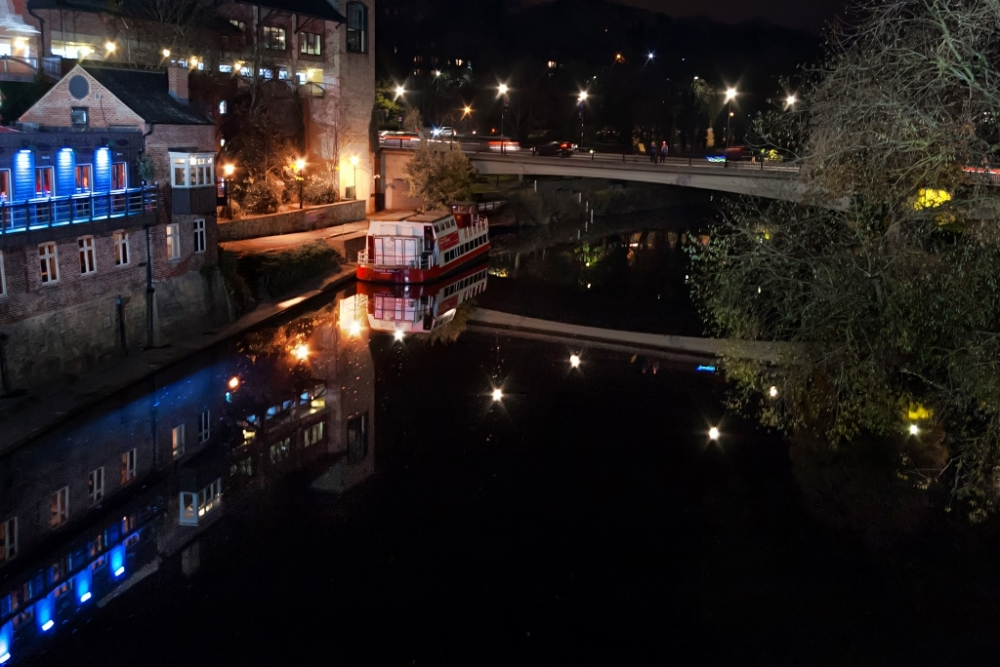 River Wear at night in Durham