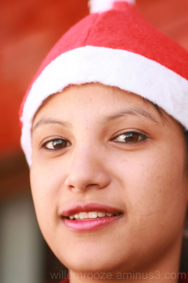 Indian Christmas girl