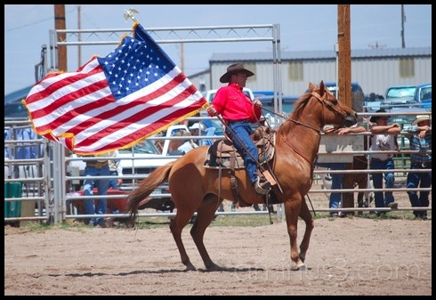 Cowboy with American Flag