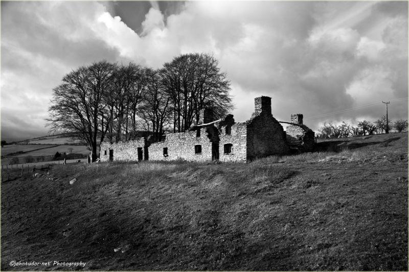 Old Stone Farm House (Monochrome)