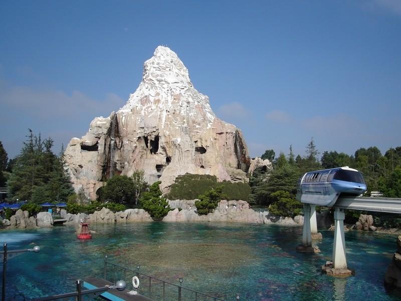 Monorail Passing Matterhorn