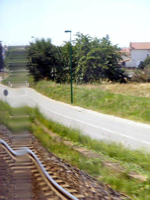 par la vitre du train...