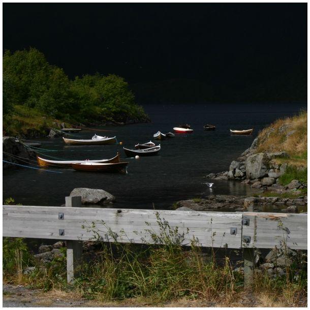 in dark water