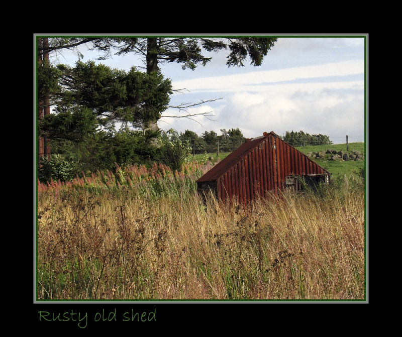 Rusty old shed