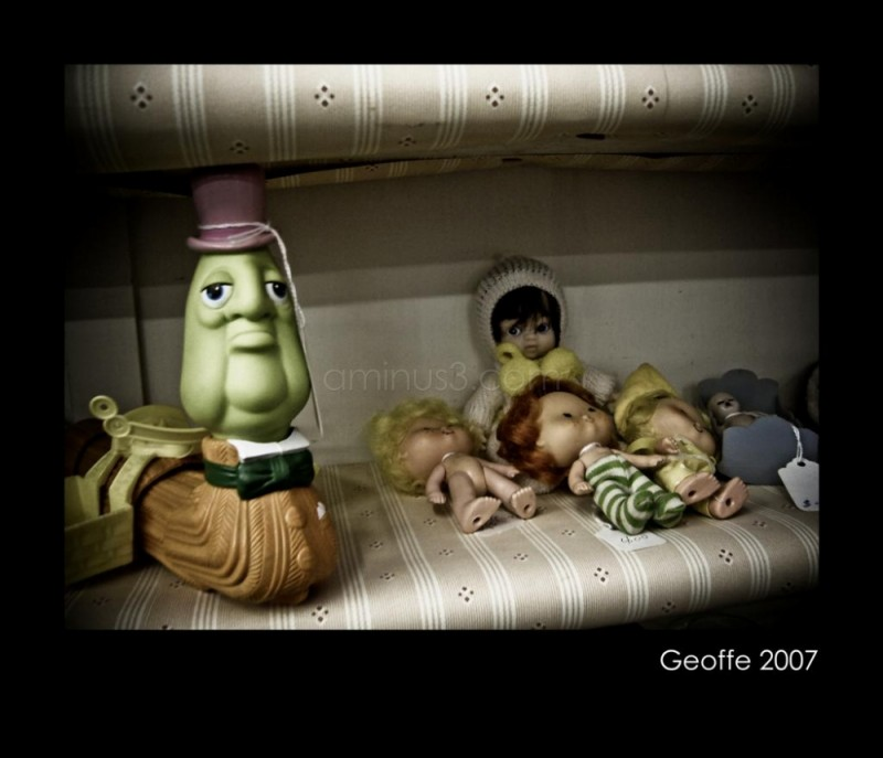 Antique toy scene
