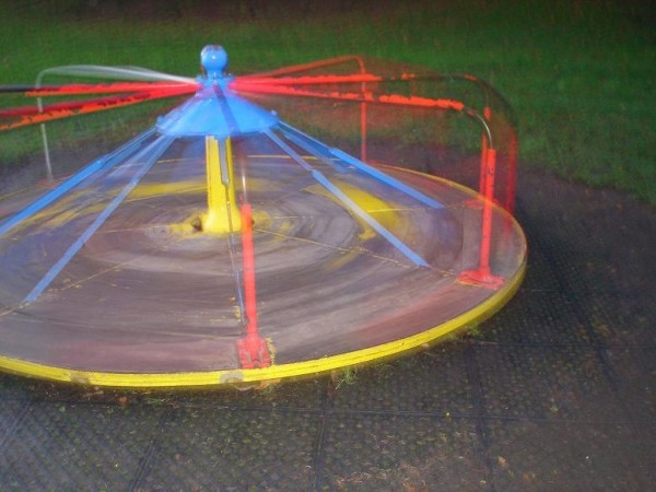 Spinning merry-go-round