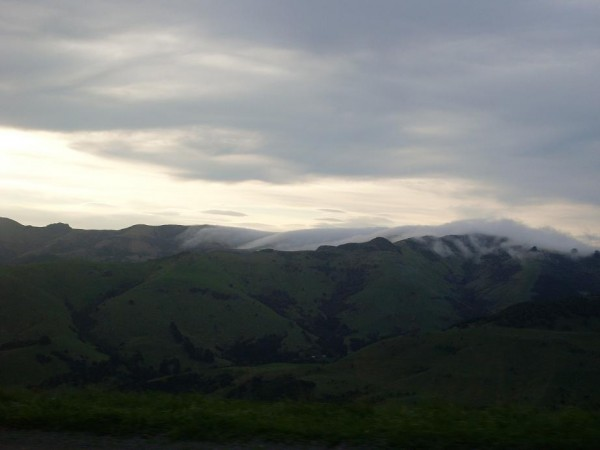 Clouds soming over the hills