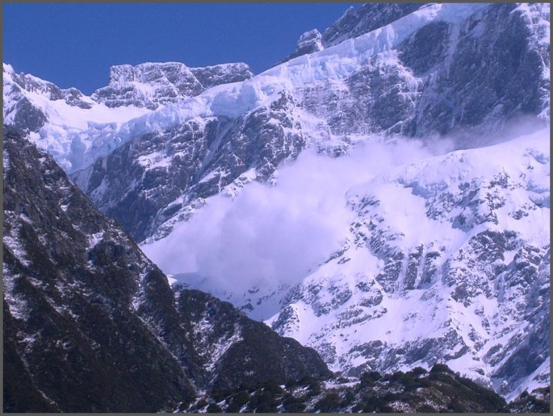 Avalanche on the Alps