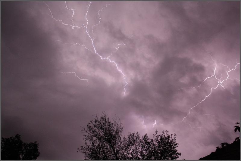 Lightning in Christchurch, New Zealand
