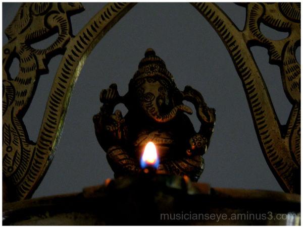A lamp for Ganesha...