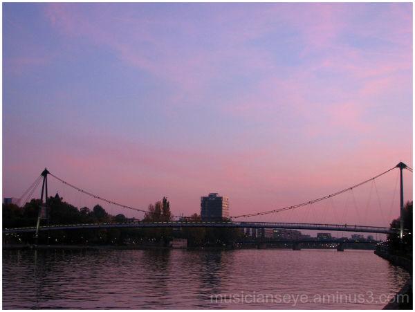 Bridge on Main river, Frankfurt