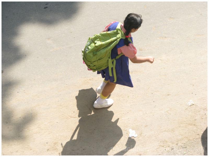 A schoolkid's burden!