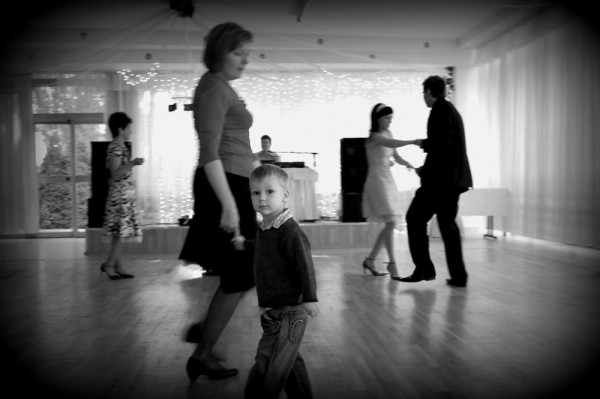 Jaś dancing with grandmother
