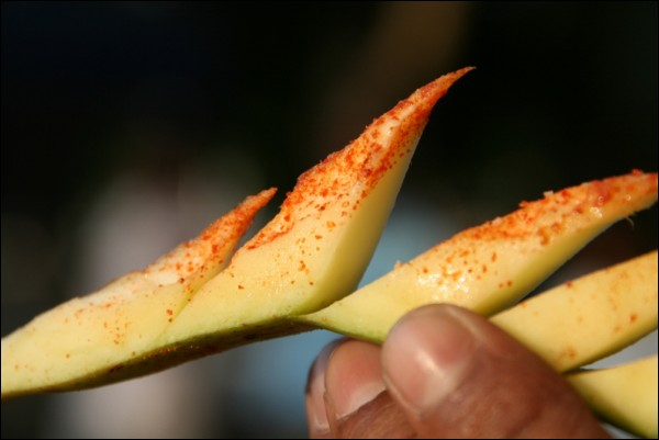 a slice of mango