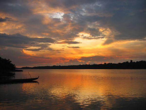 maroni's river sunset