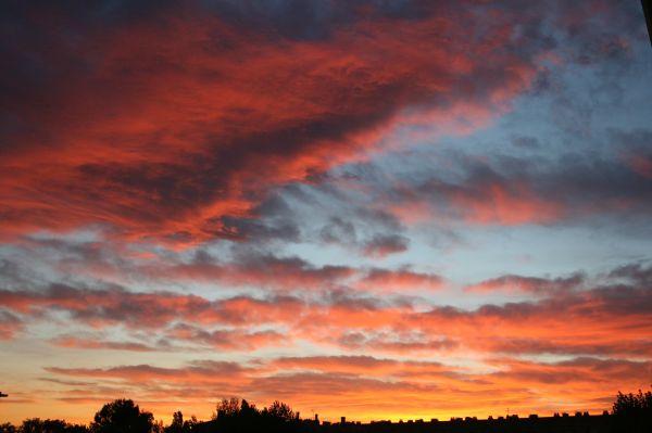 beau coucher de soleil?