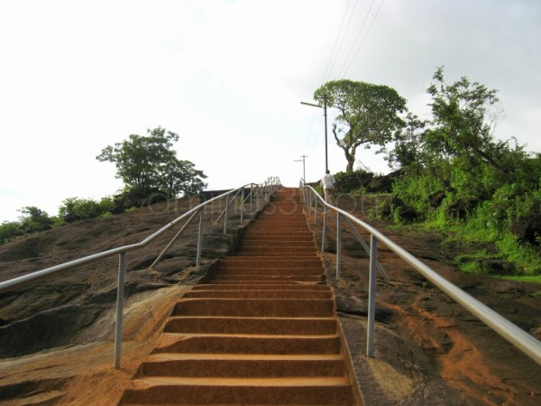 Steps leading to gomateshwara statue in karkala