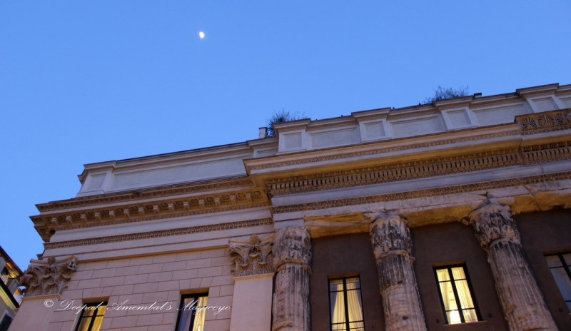 Moon over Hadrian temple