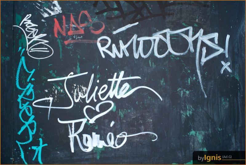 a love graffiti near the Seine in Paris