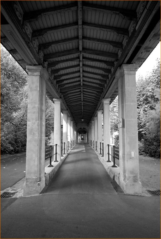 open air corridor in Sainte-anne hospital, Paris