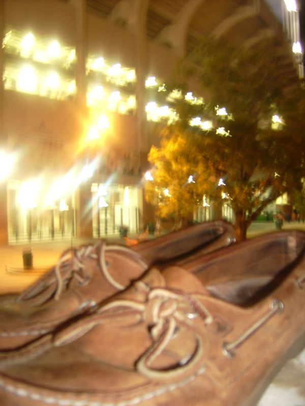My shoes outside the stadium