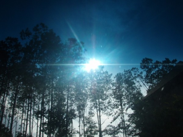 the sun burns blue