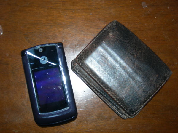 my favorite things: my wallet and cell phone