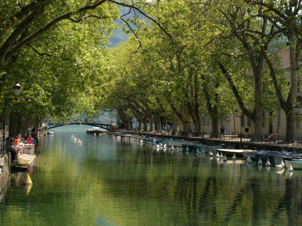 Couleurs d'eau  -  Le pont des Amours  -  Annecy