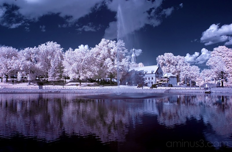 Infrared landscape shot with modified Canon D60