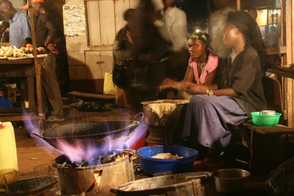 Nighttime Market in Bugembe, Uganda