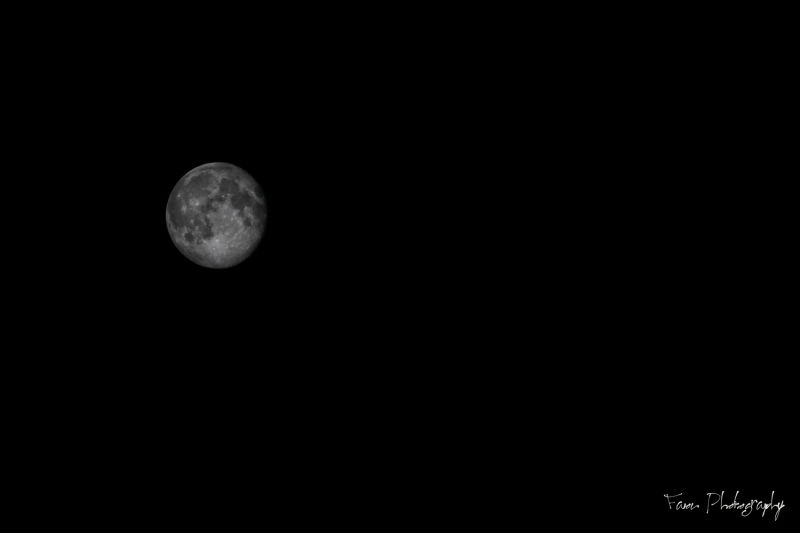 Almost full moon ...