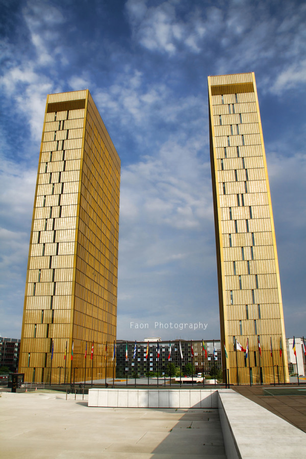 The (gold) twin towers, Luxembourg